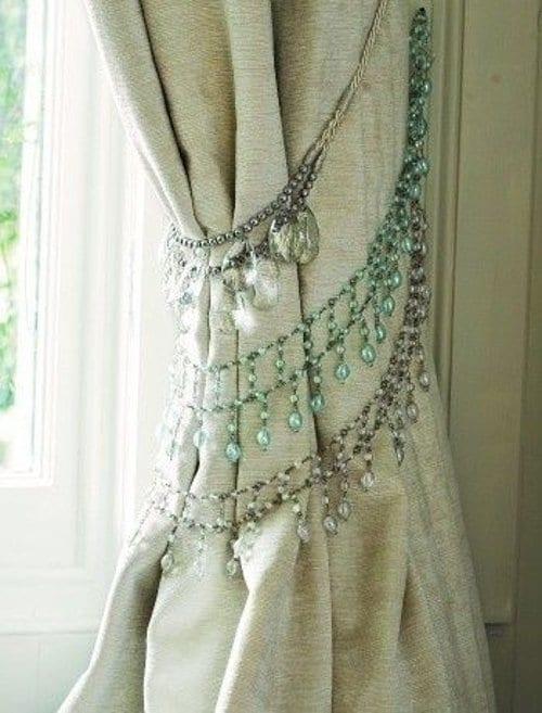 rhinestone necklace tie backs