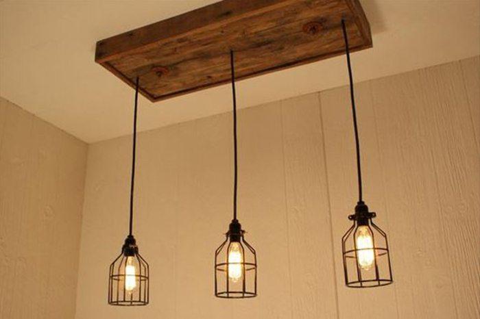 rustic pallet chandelier