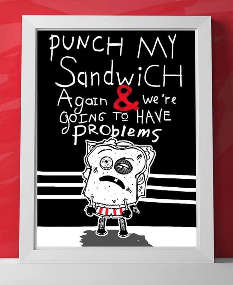 sandwich-fight