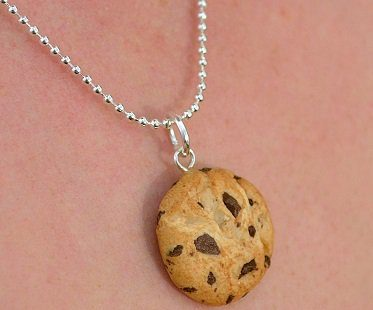 scented cookie necklace chocolate chip