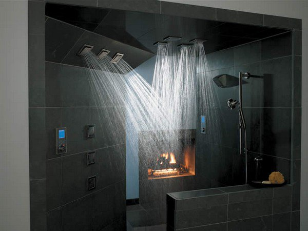 seven nozzle power shower