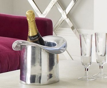 silver top hat ice bucket