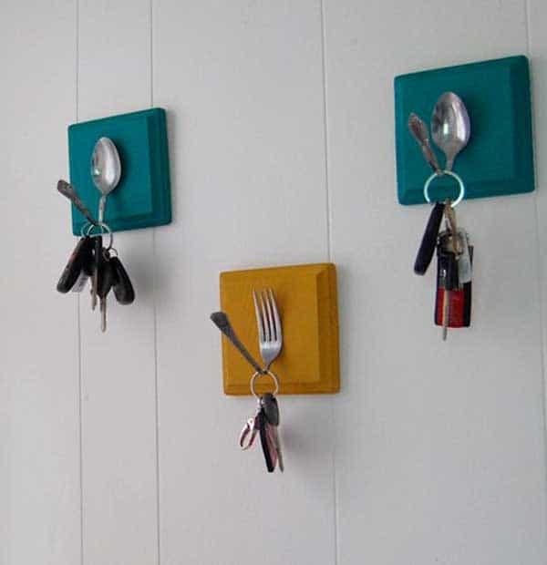 silverware key hooks