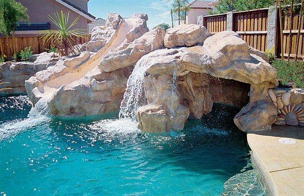 slide waterfall rock pool