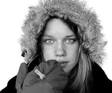 smoking gloves girl