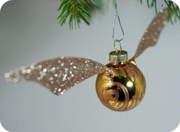 17 awesome tree ornaments any harry potter fan will love snitch diy solutioingenieria Gallery