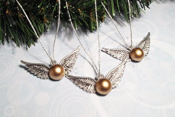 snitch ornament - Harry Potter Christmas Decorations