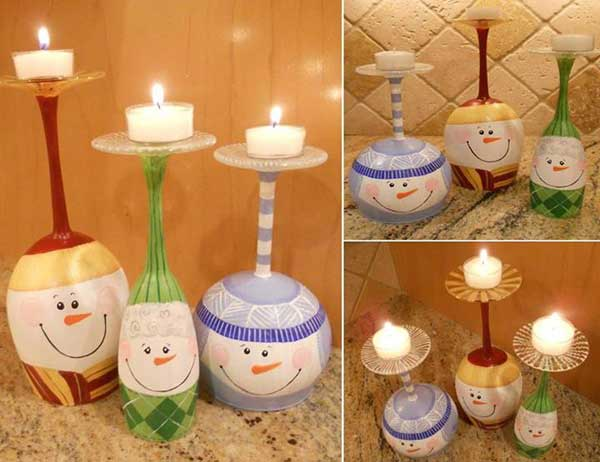 snowman-candle-holders