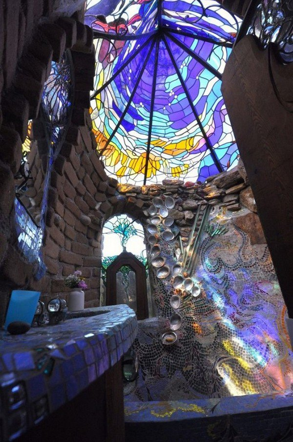 stain glass shower