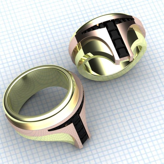 16 gloriously geeky wedding rings for committed nerds for Star wars wedding rings