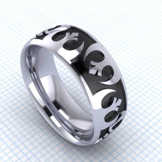 slideshow nerdy rings wedding bands fingerprint