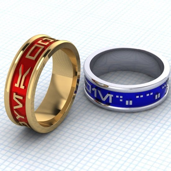 article rings speaking nerdy wedding floss mental engagement of geeky