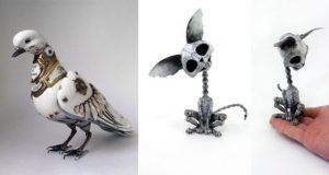 steampunk animal sculptures