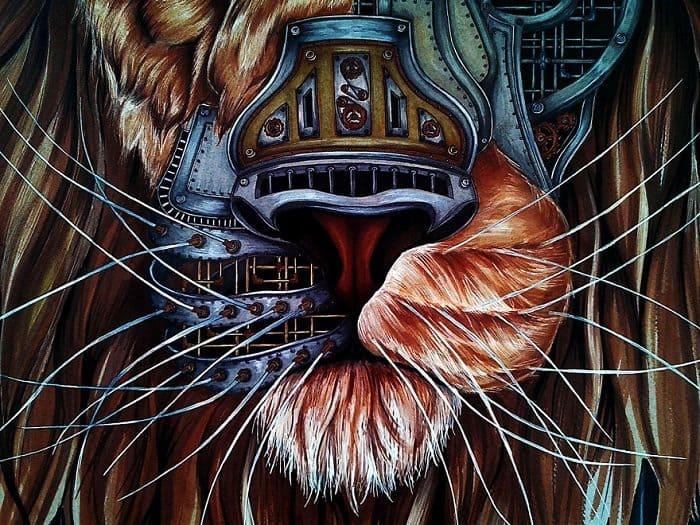 steampunk lion paula duta muzzle