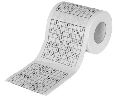 sudoku toilet roll game