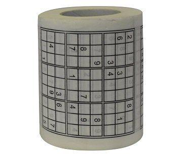 sudoku toilet roll paper