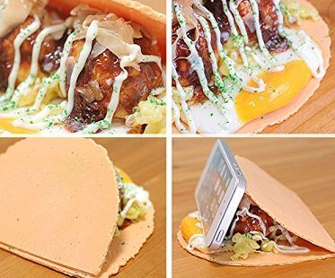 taco smartphone holder food