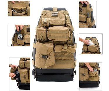 tactical car seat cover tan