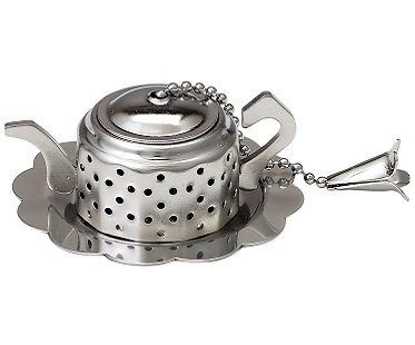 teapot tea infuser tray