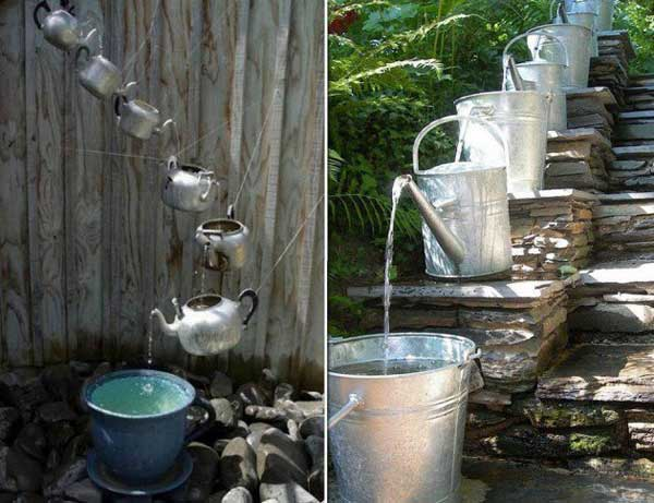 teapot watering can fountain