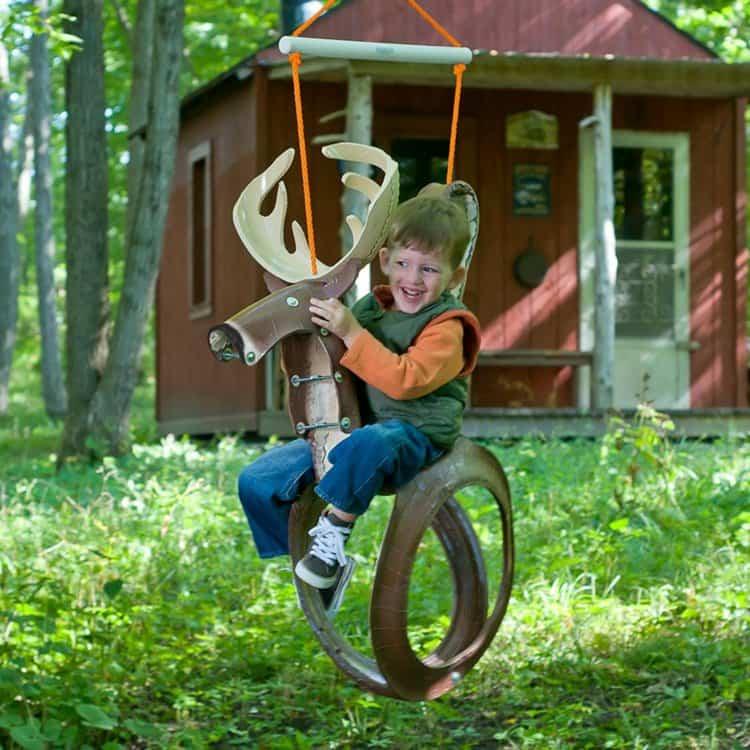 tire-reindeer-swing