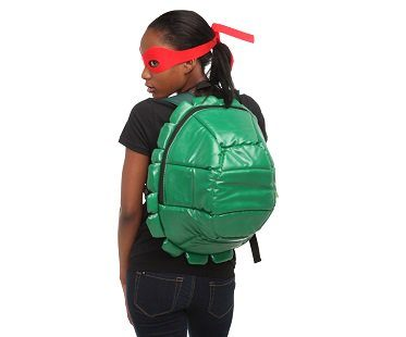 tmnt shell backpack red