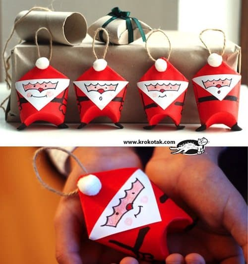 15 Creative DIY Christmas Decorations Using Toilet Roll ~ 043503_Christmas Decoration Ideas Using Toilet Paper Rolls