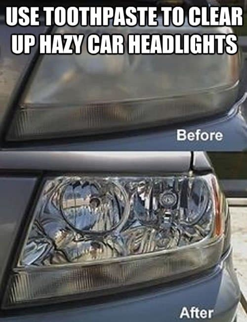 toothpaste car lights