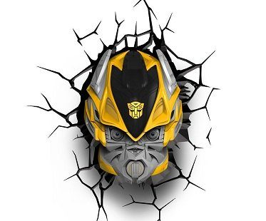 transformers night light bumblebee yellow