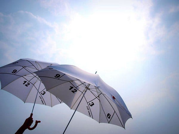 umbrella aloft