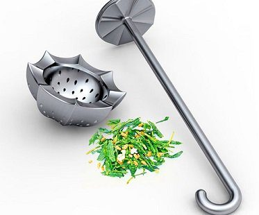 umbrella tea infuser leaves