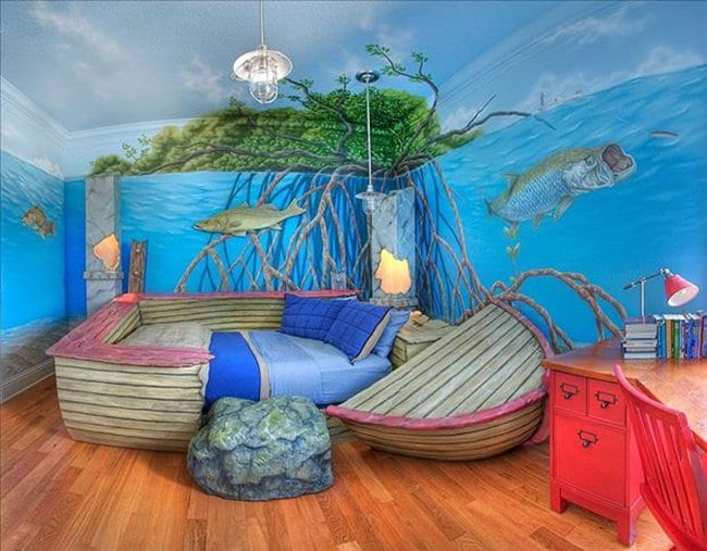 underwater bedroom. 22 Awesome Themed Bedrooms That Every Kid Would Love