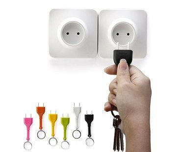 unplug key ring different colors