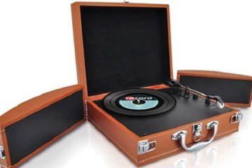 vinyl record player briefcase