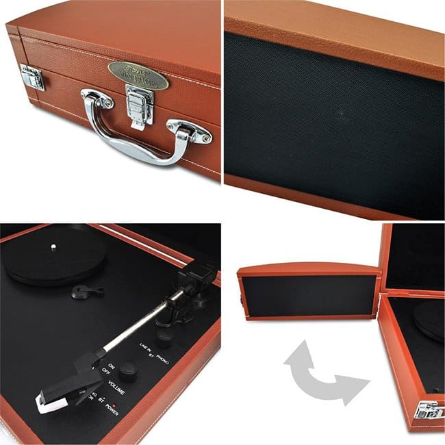 vinyl record player suitcases