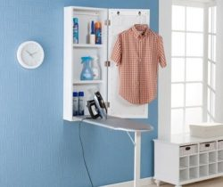 wall-mounted fold-out ironing board