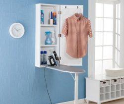 wall-mounted fold-out ironing board