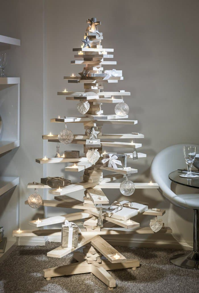 wooden boards christmas tree
