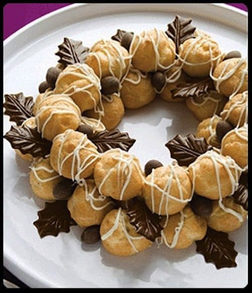 18 christmas wreath themed treats for seasonal sweetness for Alif tree french cuisine