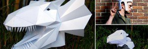 3D Paper Masks and sculptures