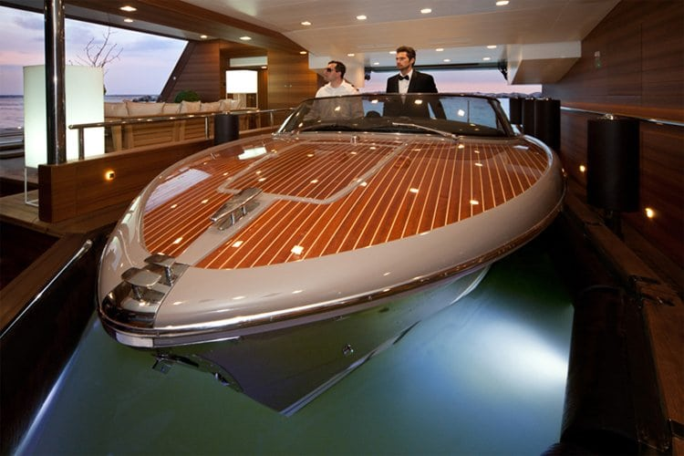 You Know You Re Rich When Your Yacht Has A Garage For Your Speed Boat