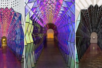 Colorful Glass Tunnel