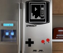 Gameboy Tetris Fridge Decal
