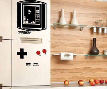 Gameboy Tetris Fridge Decal measurements