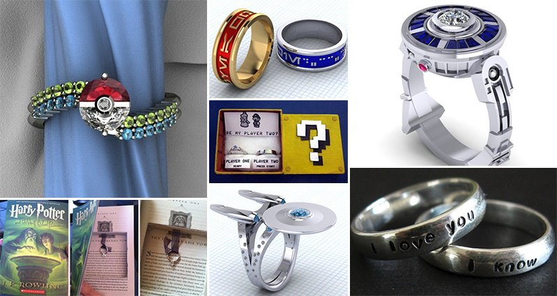 his bands of awesome hers custom geekologie fresh ideas wars concept and photos nerdy wedding themed rings star