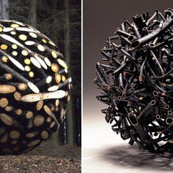 Geometric Wood Sculptures