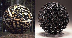 Geometric Wood Sculptures