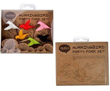 Hummingbird Party Picks forks box