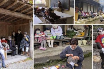 Japanese Town Of Scarecrows