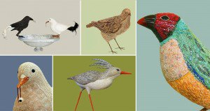 Mosaic Bird Sculptures